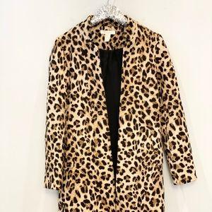 H&M Leopard Coat Size XS